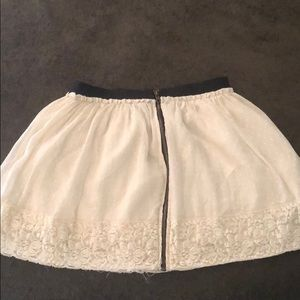 Lace border skirt